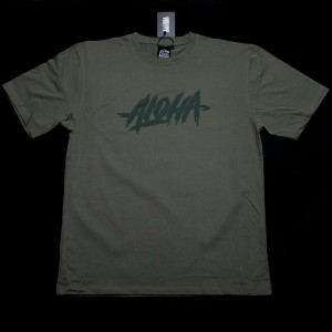 KOSZULKA ALOHA ENT. RUGGED KOLOR NAVY GREEN + GRATIS